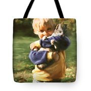 Kitty Love Tote Bag by Barbara Hymer
