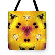 Kitty Petals Tote Bag by Cheryl Young