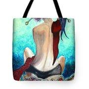Lady In Red Tote Bag by Jolanta Anna Karolska