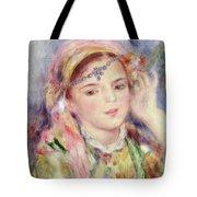 L'Algerienne Tote Bag by Pierre Auguste Renoir