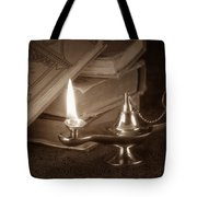 Lamp of Learning Tote Bag by Tom Mc Nemar