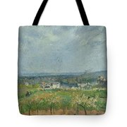 Landscape In Pontoise Tote Bag by Camille Pissarro