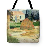 Landscape Near Arles Tote Bag by Paul Gauguin