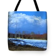 Landscape  Snow Scene Tote Bag by Johanna Bruwer