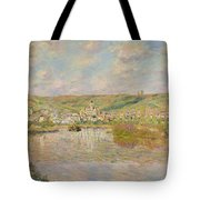Late Afternoon - Vetheuil Tote Bag by Claude Monet
