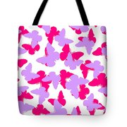 Layered Butterflies  Tote Bag by Louisa Knight