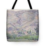 Le Ragas Near Toulon Tote Bag by Camille Pissarro