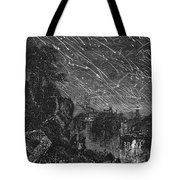 Leonid Meteor Shower, 1833 Tote Bag by Granger