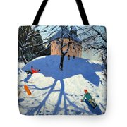 Les Gets Tote Bag by Andrew Macara