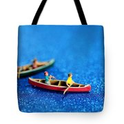 Let's Boating Together Tote Bag by Paul Ge
