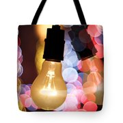 Light Bulb And Bokeh Tote Bag by Setsiri Silapasuwanchai