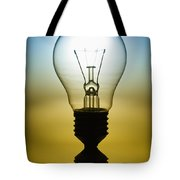 Light Bulb Tote Bag by Setsiri Silapasuwanchai