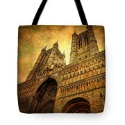 Lincoln Cathedral Tote Bag by Yhun Suarez