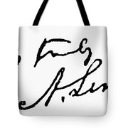 Lincolns Autograph Tote Bag by Granger