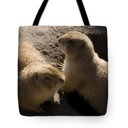 Little Dogs On The Prairie Tote Bag by Trish Tritz