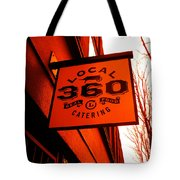 Local 360 In Orange Tote Bag by Kym Backland