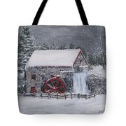 Longfellow's Grist Mill In Winter Tote Bag by Jack Skinner