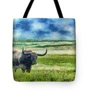 Longhorn Prarie Tote Bag by Jeff Kolker