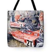 Lotus 49 B Lotus 72 Tote Bag by Yuriy  Shevchuk