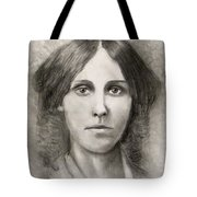 Louisa May Alcott Tote Bag by Jack Skinner