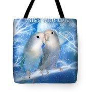 Love At Christmas Card Tote Bag by Carol Cavalaris