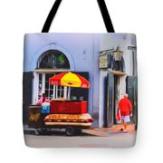 Lucky Dogs - Bourbon Street Tote Bag by Bill Cannon