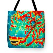 Lucky Parrotfish Tote Bag by Daniel Jean-Baptiste