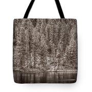 Madison River Yellowstone Bw Tote Bag by Steve Gadomski