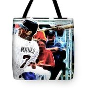 Magical Joe Mauer Tote Bag by Paul Van Scott