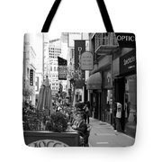 Maiden Lane San Francisco California - 5d19376 - Black And White Tote Bag by Wingsdomain Art and Photography