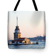 Maiden Tower In Istanbul Tote Bag by Artur Bogacki