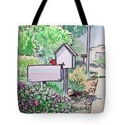 Mail Boxes Sketchbook Project Down My Street Tote Bag by Irina Sztukowski