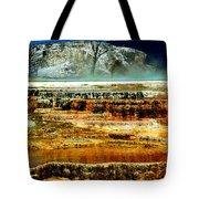 Mammoth Terrace - Yellowstone Tote Bag by Ellen Heaverlo