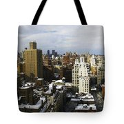Manhattan View On A Winter Day Tote Bag by Madeline Ellis