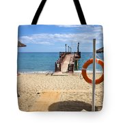 Marbella Beach In Spain Tote Bag by Artur Bogacki