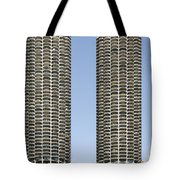 Marina City Chicago - Life in a Corn Cob Tote Bag by Christine Till