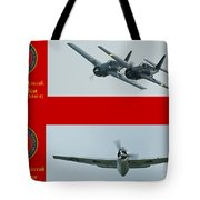 Marine Wildcat And Avenger Tote Bag by Tim Mulina