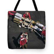 Marines Push Pordnance Into Place Tote Bag by Stocktrek Images
