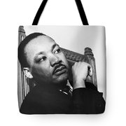 Martin Luther King, Jr Tote Bag by Photo Researchers