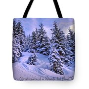 Merry Christmas And A Wonderful New Year Tote Bag by Sabine Jacobs