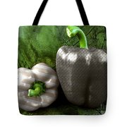 Metal Peppers Tote Bag by Cheryl Young