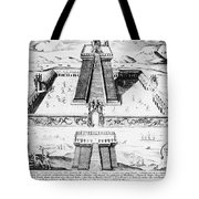 Mexico: Aztec Temple, 1765 Tote Bag by Granger