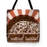 Mezquita Cathedral Religious Carving Tote Bag by Artur Bogacki