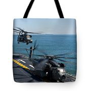 Mh-53e Sea Dragon Helicopters Take Tote Bag by Stocktrek Images