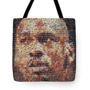Michael Jordan Card Mosaic 3 Tote Bag by Paul Van Scott