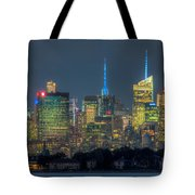 Mid-town Manhattan Twilight I Tote Bag by Clarence Holmes