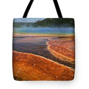Middle hot springs Yellowstone Tote Bag by Garry Gay