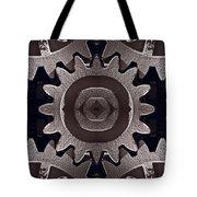 Mirror Gears Tote Bag by Steve Gadomski