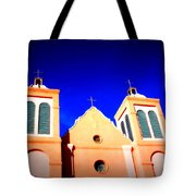 Mission Church Silver City Nm Tote Bag by Susanne Van Hulst