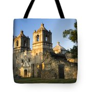 Mission Concepcion In The Evening Tote Bag by Ellie Teramoto